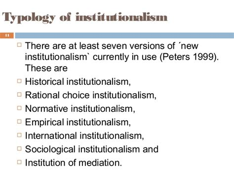Institutions and institutional theory