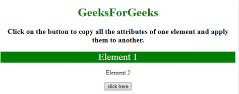 Copy all the attributes of one element and apply them to