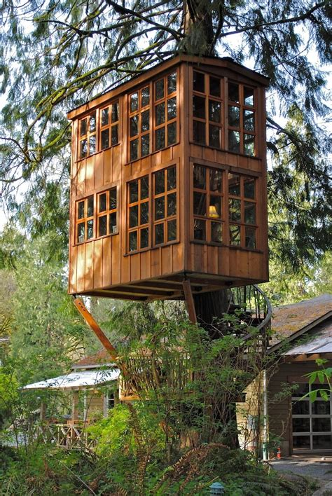 Charming Treehouses are Unique Getaway Near Seattle - My