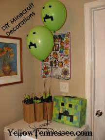DIY Decorations for a Minecraft Party - Yellow Tennessee