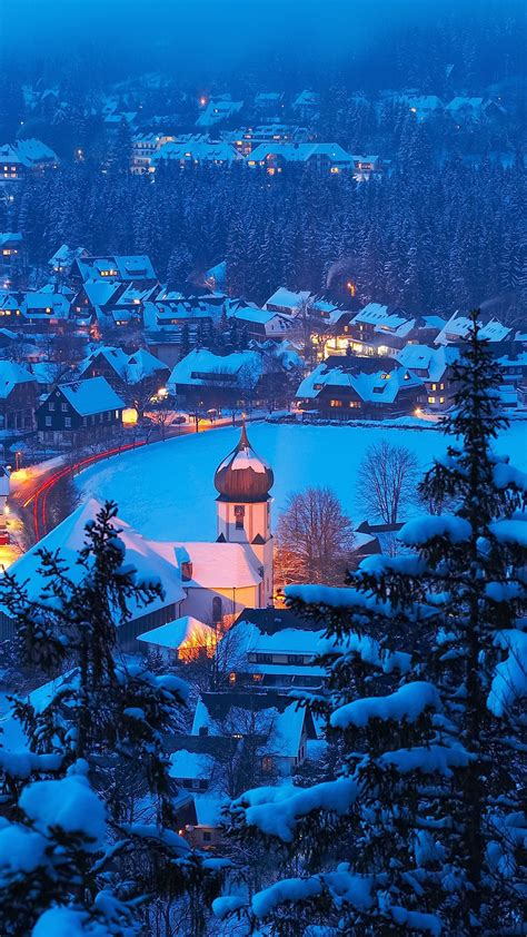 Winter in Hinterzarten, Black Forest (Schwarzwald), Baden