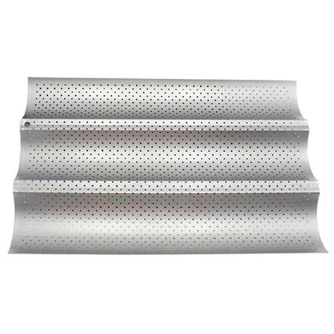 Non Stick Perforated French Bread Pan Baguette Mold