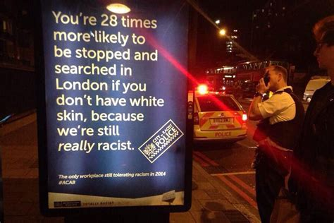 Fake adverts accusing police of being racist appear at bus