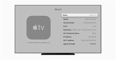 Find the serial number for your Apple TV - Apple Support