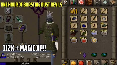 OSRS- Loot From One Hour Of Bursting Dust Devils (Insane
