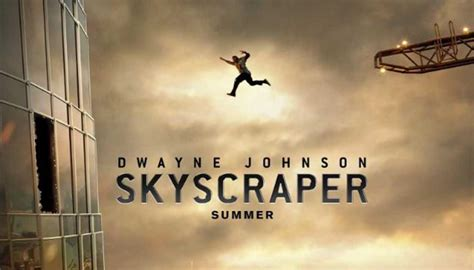 Poster for The Rock's new movie Skyscraper puzzles the