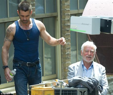 Colin Farrell brings his father to set of latest action