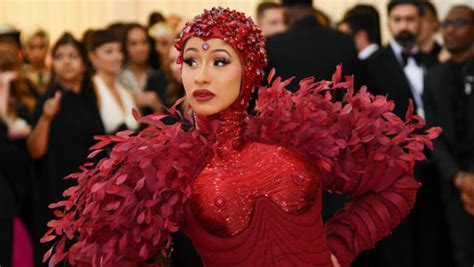 Cardi B's Met Gala Gown Featured Ruby Nipple Covers That