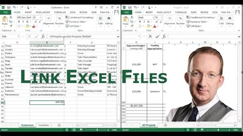 Link Excel Files - YouTube