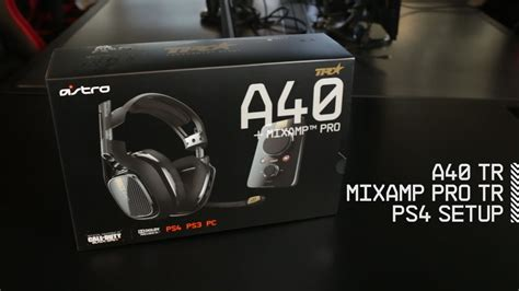 Setup A40 TR Headset + MixAmp Pro TR with PS4 | ASTRO