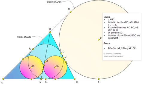 Geometry Problem 1105: Triangle, Incircle, Excircle