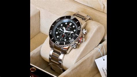 SEIKO SSC015P1 Solar Chronograph Diver Watch - YouTube