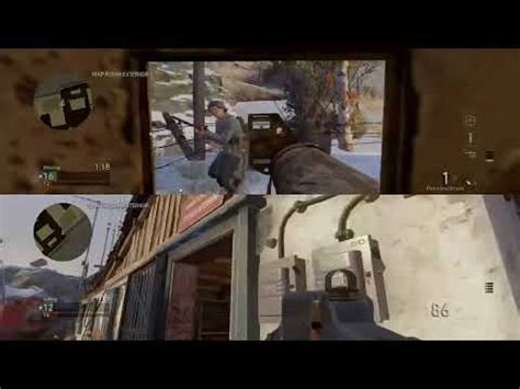 Call of duty ww2 but its split screen with my sister - YouTube