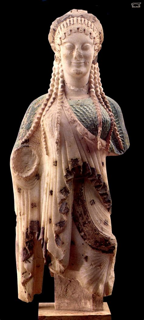 ARCHAIC: Kore from the acropolis, Athens