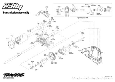 Rally (74076-1) Transmission Assembly Exploded View | Traxxas