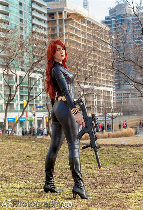 The amazing GillyKins as Black Widow captured at Toronto C