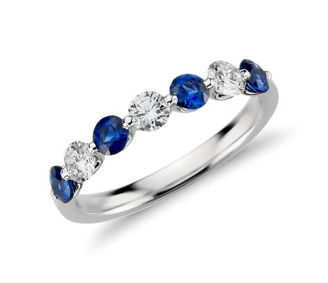 Classic Floating Sapphire and Diamond Ring in Platinum (3