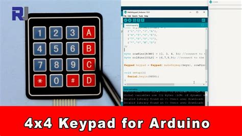 How to use Arduino 4x4 keypad download the code - YouTube