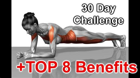 30 Day Plank Challenge, Results and TOP 8 Benefits - YouTube
