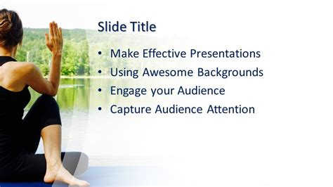 Free Meditation Yoga PowerPoint Template - Free PowerPoint