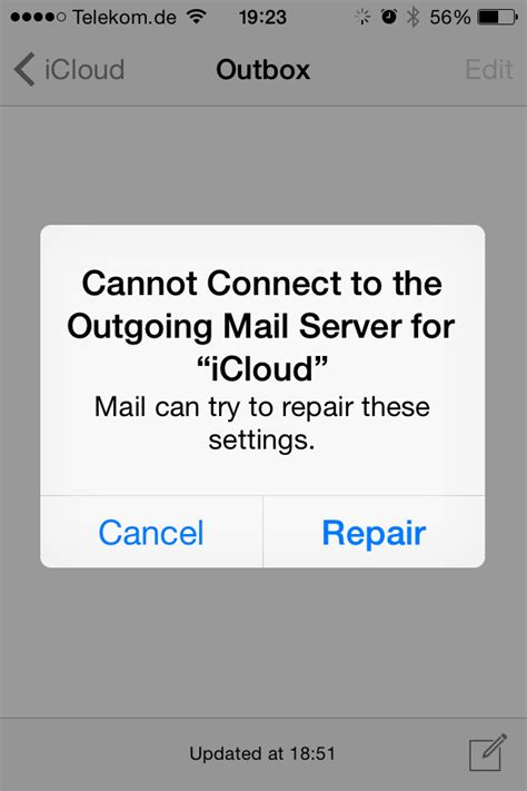 Outgoing Mail Server for 'iCloud'… - Apple Community