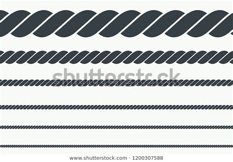 Silhouette Rope Vector Illustration Stock Vector (Royalty