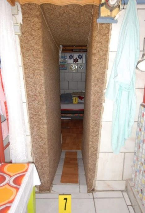 Pictured: Inside the cellar where father locked daughter