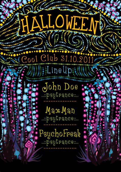Psychedelic Halloween Party Flyer Template - Andrei Verner