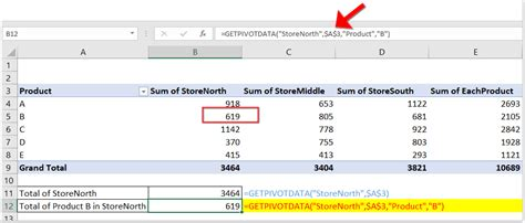 How to use Excel GETPIVOTDATA function