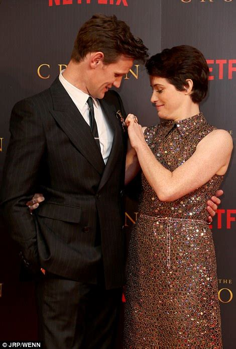 Claire Foy and Matt Smith pose at premiere of The Crown