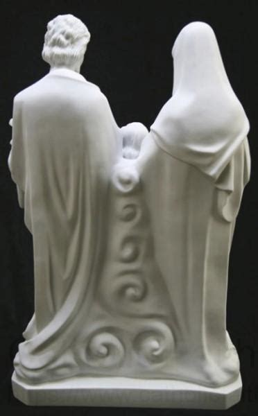 Holy Family Statue White Marble Composite - 26 inch
