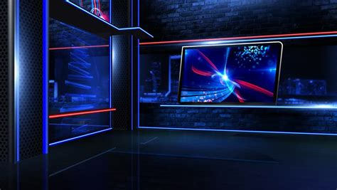3d Virtual Tv Studio Background