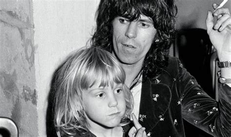 Strict father, Keith Richards laid down the rules in his