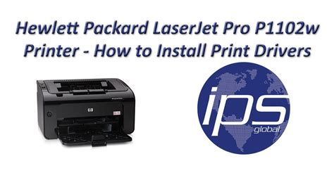HP P1102w - How to Install Print Drivers - YouTube