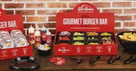 """Red Robin Launches New """"Gourmet Burger Bar"""" Catering"""