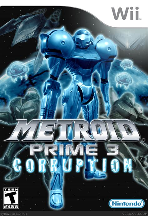 Metroid Prime 3: Corruption Wii Box Art Cover by Ray Blade