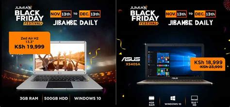Jumia Kenya Black Friday Laptop Prices, Deals, Offers and