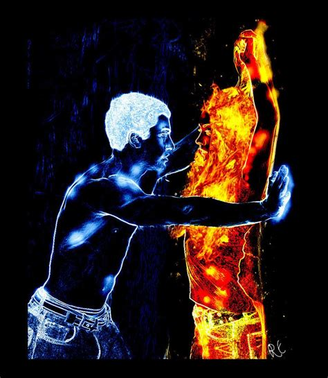 Super hot laser image for fire and ice themed dance   Twin