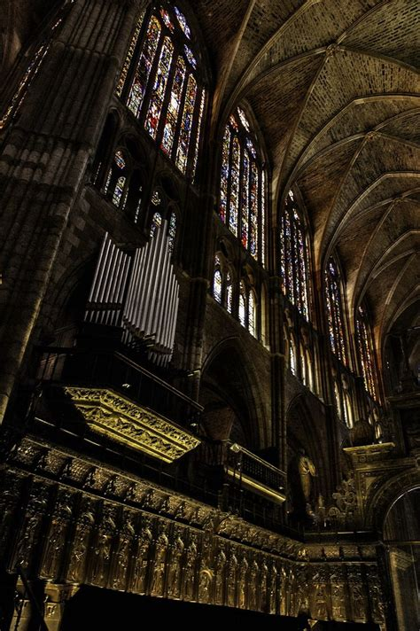 Pipes of the organ of Leon's Cathedral - Spain by José